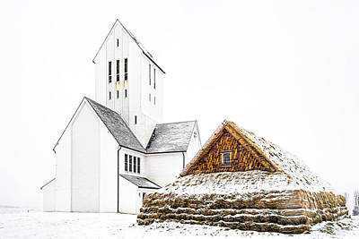 Photograph - Skalholt Church by Maria Coulson