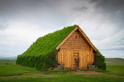 Skalholt Iceland Grass Roof Art Print