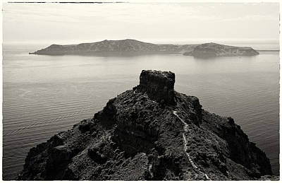 Wall Art - Photograph - Skaros Trails Of Santorini by Jack Daulton