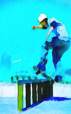 Skate Board City 2 Art Print