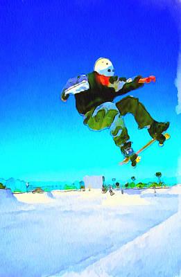 Skate Board City 3 Art Print