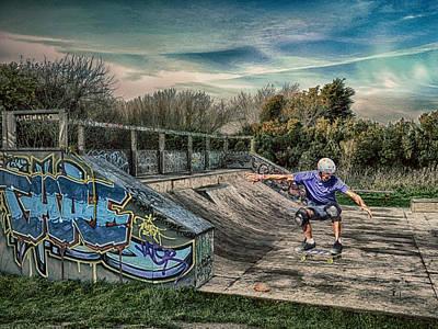 Skate Park Art Print by Sharon Lisa Clarke