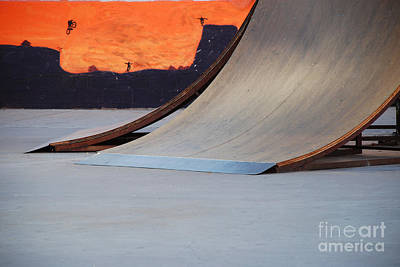 Photograph - Skate Ramp With Mural by Kate Sumners