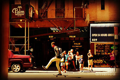 Photograph - Skateboard - Life In New York - New York City Street Scene by Miriam Danar