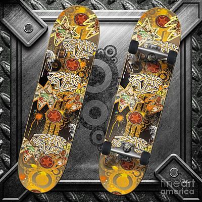 Skateboard Art Print by Mo T