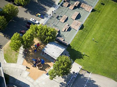 Americas Playground Photograph - Skateboard Park And Playground by Andrew Buchanan/SLP
