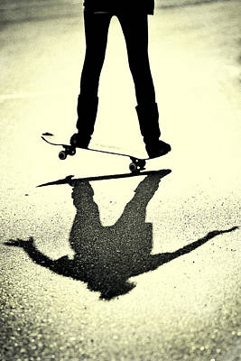 Photograph - Skateboard Shadow by Susan Stone