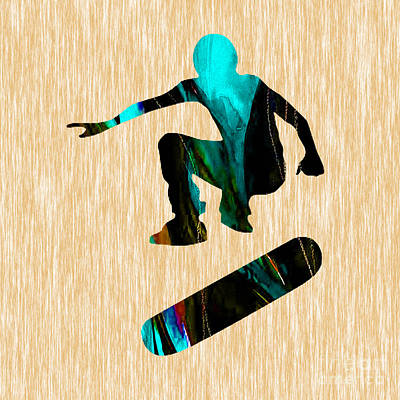 Mixed Media - Skateboarder Art by Marvin Blaine