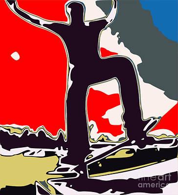 Youth Digital Art - Skateboarder by Chris Butler