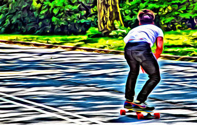 Photograph - Skateboarder In Central Park by Alice Gipson