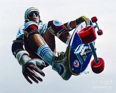 Skateboarder Original by Karen Wheeler