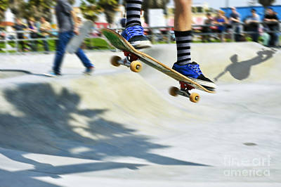 Photograph - Skateboarders Catching Air by David Zanzinger