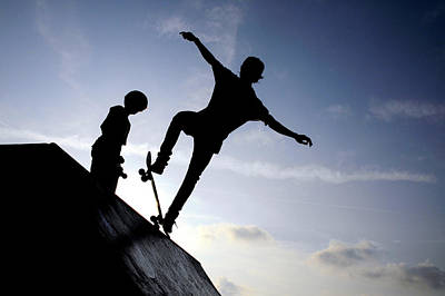Skating Photograph - Skateboarders by Fabrizio Troiani