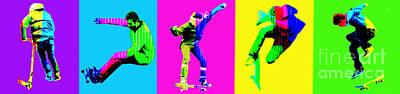 Skateboarders Art Print by Michelle Orai