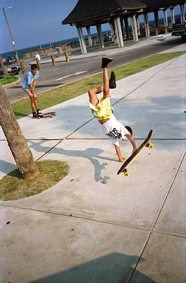 Photograph - Skateboarding Gulf Shores Ala. 1988 #1 by Gary Smith