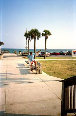 Photograph - Skateboarding Gulf Shores Ala. 1988 #4 by Gary Smith