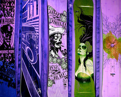 Photograph - Skateboards In Lilac by Fraida Gutovich