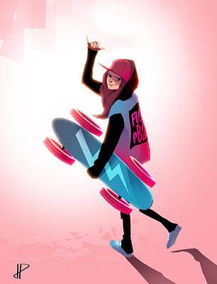 Skateboard Digital Art - Skater by Pere Devesa