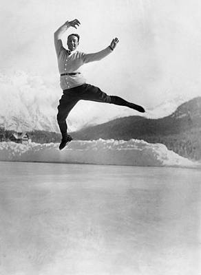 Solo Dancer Photograph - Skater Up In The Air by Underwood Archives