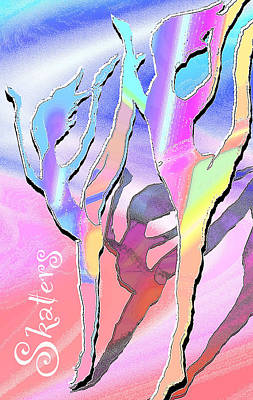 Digital Art - Skaters by Ginny Schmidt