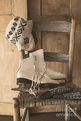 Photograph - Skates On Chair With Mits And Hat by Sandra Cunningham