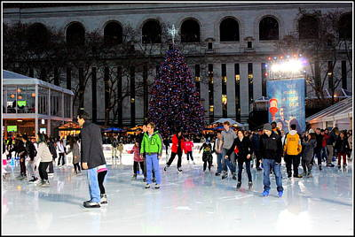 Skating At Bryant Park - New York City Original by Dora Sofia Caputo Photographic Art and Design