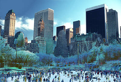 Photograph - Skating Fantasy Wollman Rink New York City by Tom Wurl