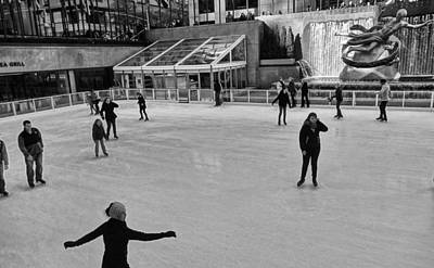Figure Skating Photograph - Skating In New York City by Dan Sproul