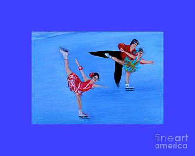 Painting - Skating. Best Christmas Gift by Oksana Semenchenko