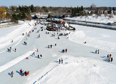Photograph - Skating On Dow's Lake At Bronson Bridge by Rob Huntley