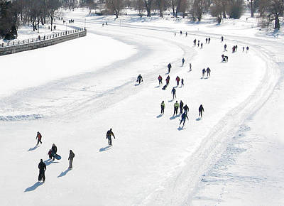 Photograph - Skating On Dows Lake Rideau Canal by Rob Huntley