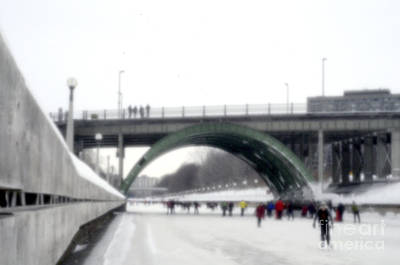 Photograph - Skating On The Canal Rideau by Andre Paquin