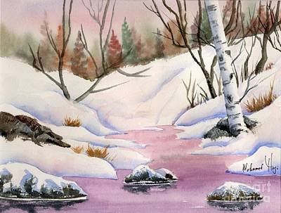 Branch Hill Pond Painting - Skating Pond by Mohamed Hirji