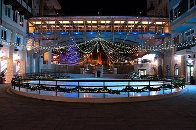 Photograph - Skating Rink In Vail Village by Brenda Jacobs