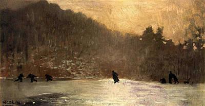 Winslow Digital Art - Skating by Winslow Homer
