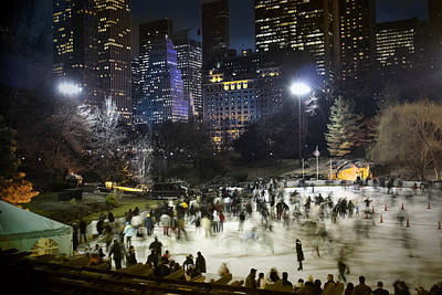 Photograph - Central Park - Skating Rink - Color by Dave Beckerman