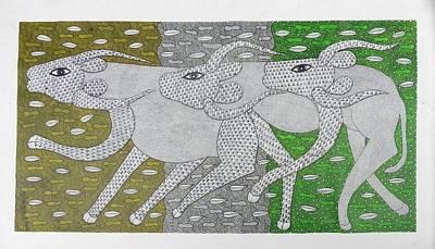 Suresh Kumar Dhurve Painting - Skd 366 by Suresh Kumar Dhurve