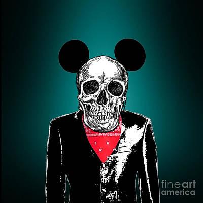 Horror Digital Art - Skeleton 2 by Mark Ashkenazi