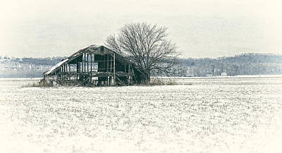 Photograph - Skeleton Barn by Wayne Meyer