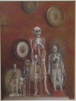 Skeleton Cabinet Art Print