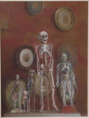 Skeleton Cabinet Art Print by Paez  Antonio