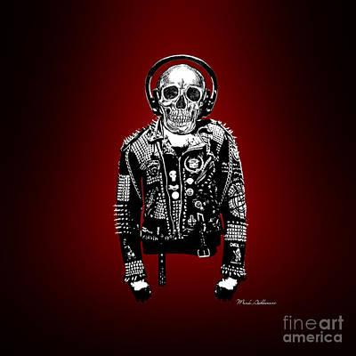 Horror Digital Art - Skeleton by Mark Ashkenazi
