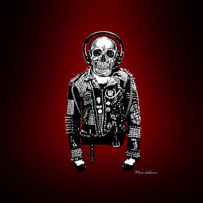 Clown Digital Art - Skeleton by Mark Ashkenazi