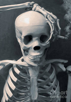 Painting - Skeleton Pose by Gregory Dyer