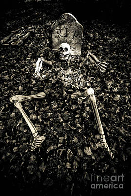 Death Photograph - Skeleton Rising From The Dead by Amy Cicconi