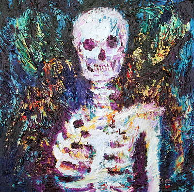 Painting - Skeleton With One Arm by Fabrizio Cassetta