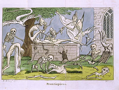 Skeletons Print by British Library