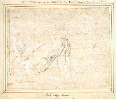 Sketch By Michelangelo Print by British Library