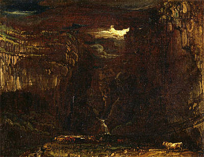 Limestone Painting - Sketch For Gordale Scar, James Ward, 1769-1859 by Litz Collection