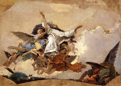 Sketch For The Glory Of Saint Dominic Art Print by Giovanni Battista Tiepolo